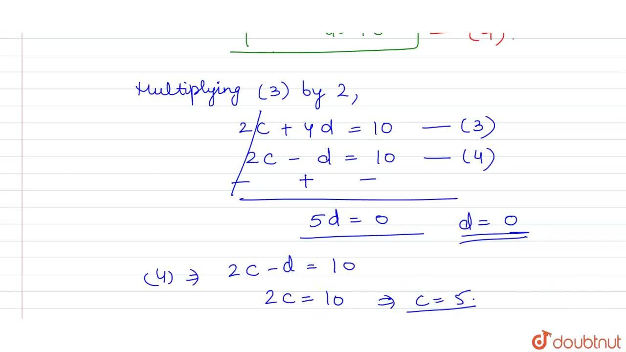 the equation of perpendicular bisectors of side AB,BC of triangle ABC are x-y=5 , x+2y=0 respectively and A(1,-2) then coordinate of C