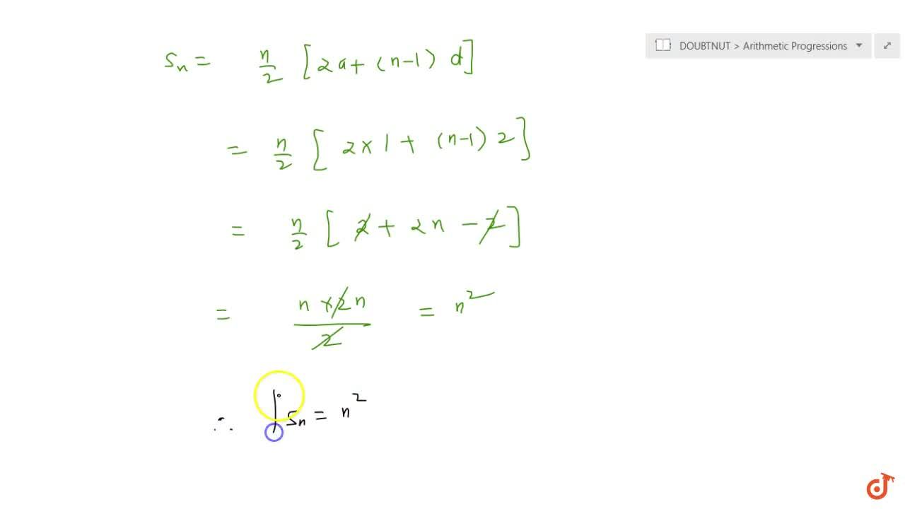 Solution for If the sum of first 7 terms of an AP is 49 and tha