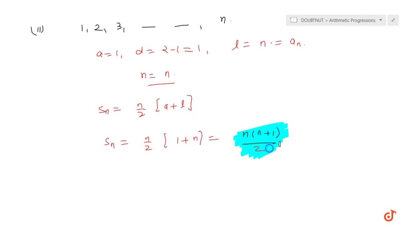 Solution for Find the sum of :(i)  the first 1000  posit