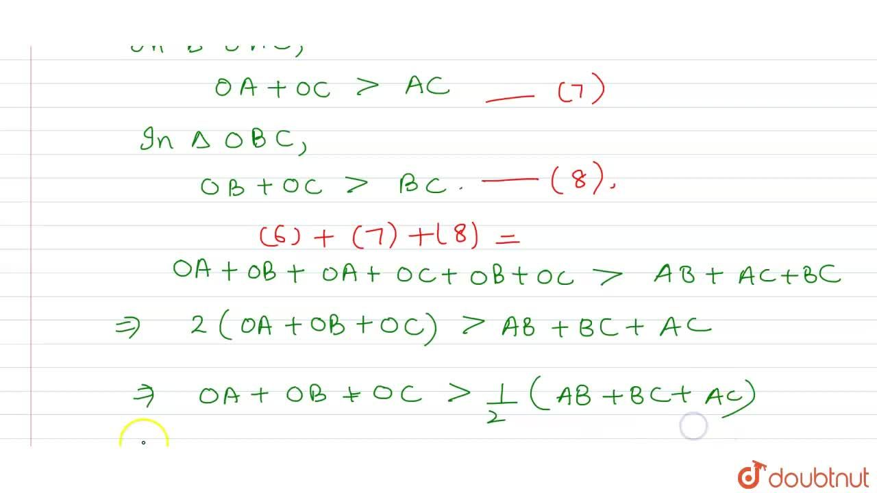 Solution for O is any point in the   interior of  A B Cdot