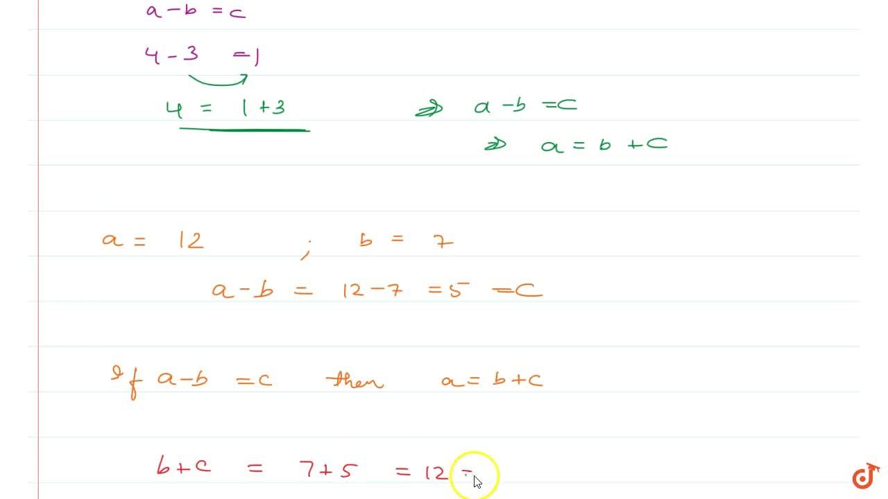 Solution for Property 5 If ab and c are whole numbers such th
