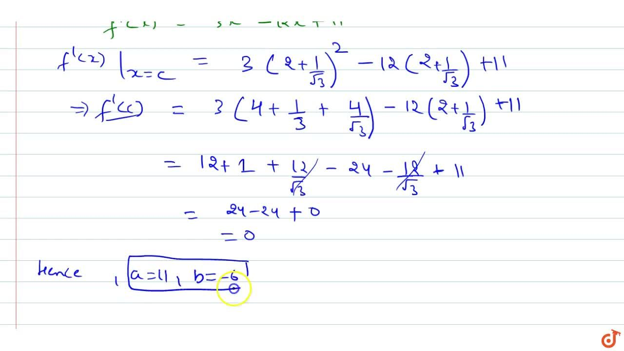 Solution for It is given that for   the function f(x)=x^3-6x^