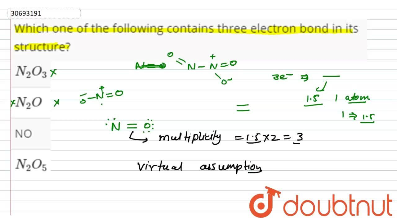 Solution for Which one of the following contains three electron