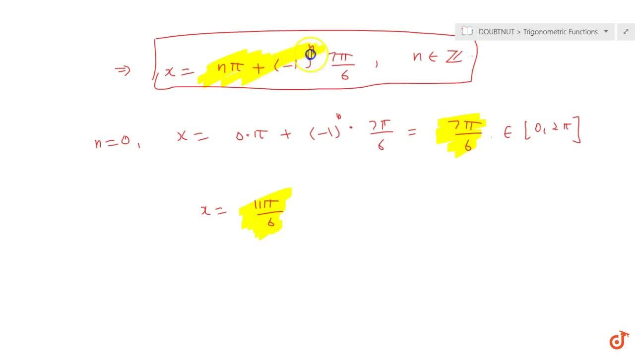 Solution for Find the  principal and general solution of cosec