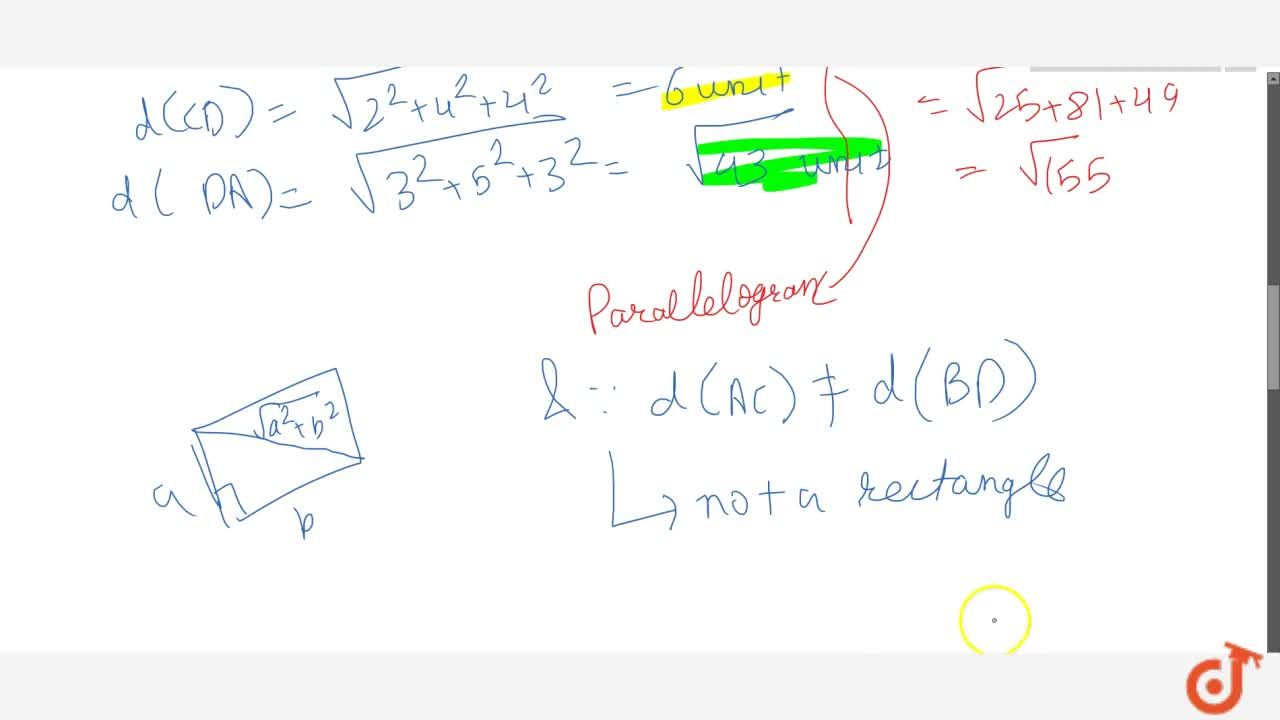 Solution for Show that the points A(1,2,3),\ B(-1,-2,-1),\ C(2