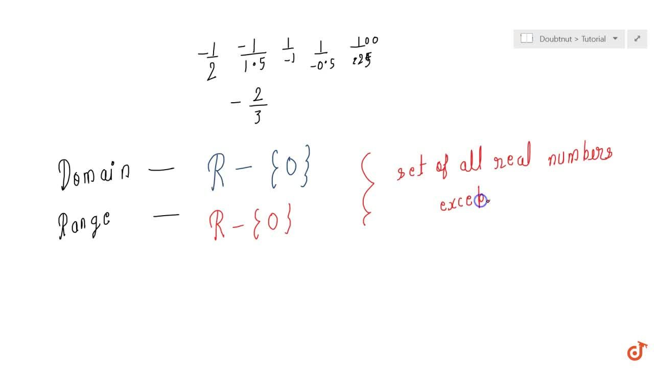 Solution for  Define  the real valued function f : R  {0} -&gt