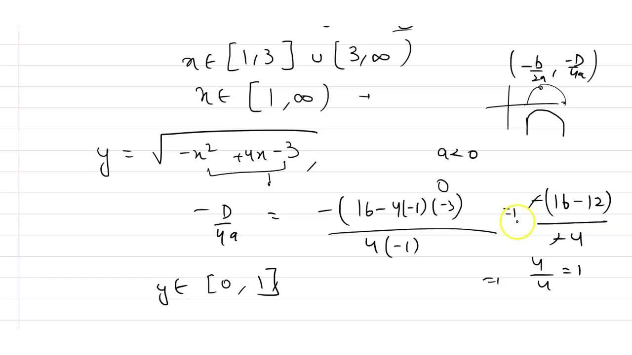 Solution for  The domain and range of real function f if (i)