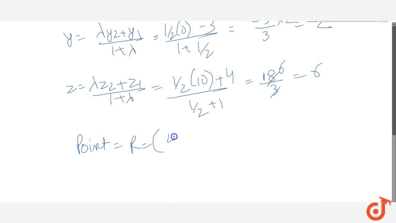 Solution for A point R with x-coordinates 4 lies on the line