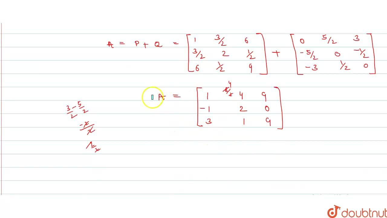 Solution for A={:[(1,4,9),(-1,2,0),(3,1,9)]:}. Represent A as