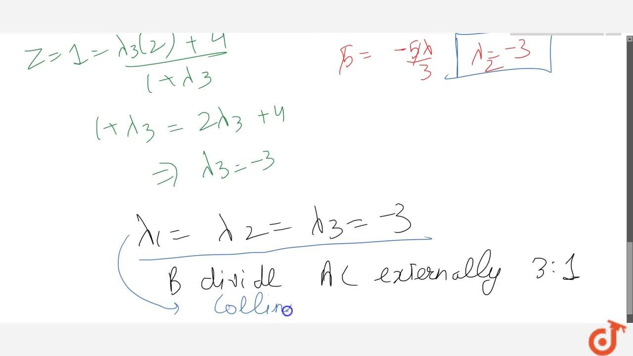 Solution for Using section formula, show that the points A(2,-