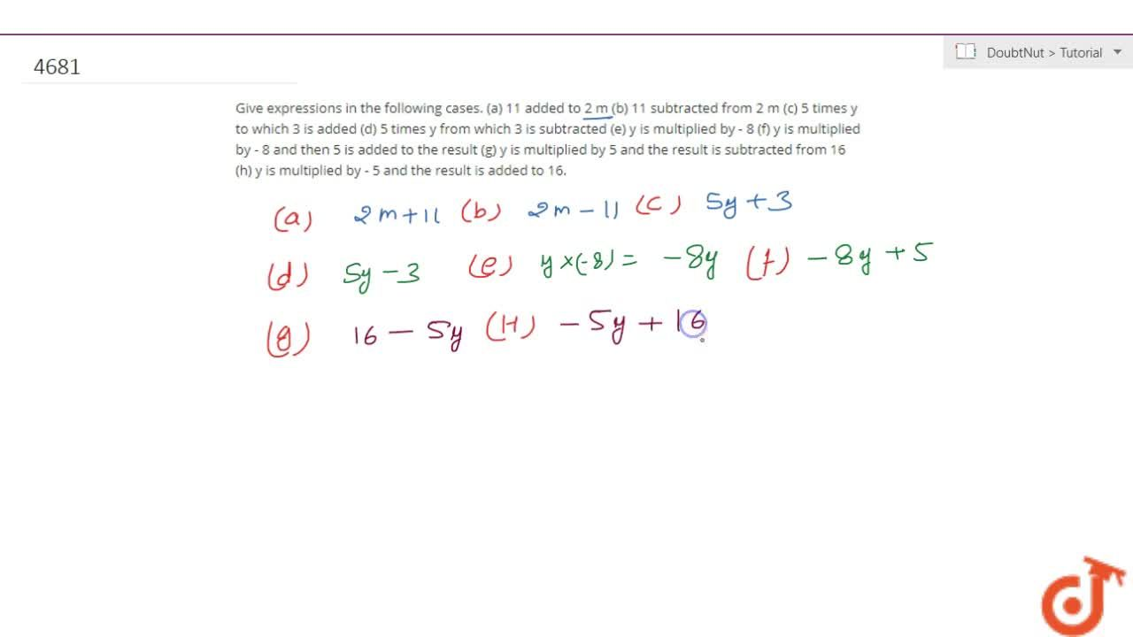 Solution for Give expressions in the following cases. (a) 11 ad