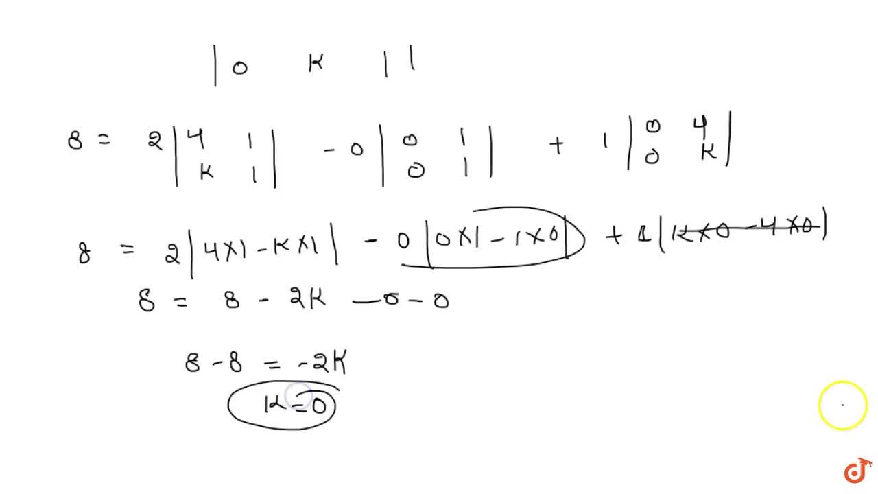 Find values of k if area of triangle is 4 sq. units  and vertices are<br> (i) (k, 0), (4, 0), (0, 2)<br>(ii)  (–2, 0), (0, 4), (0, k)