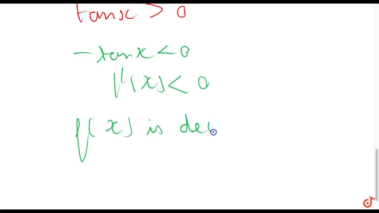 Solution for Prove that the function f given by f(x)=logcosx