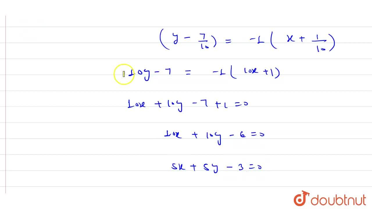 Solution for  The line x +3y -2= 0 bisects the angle between