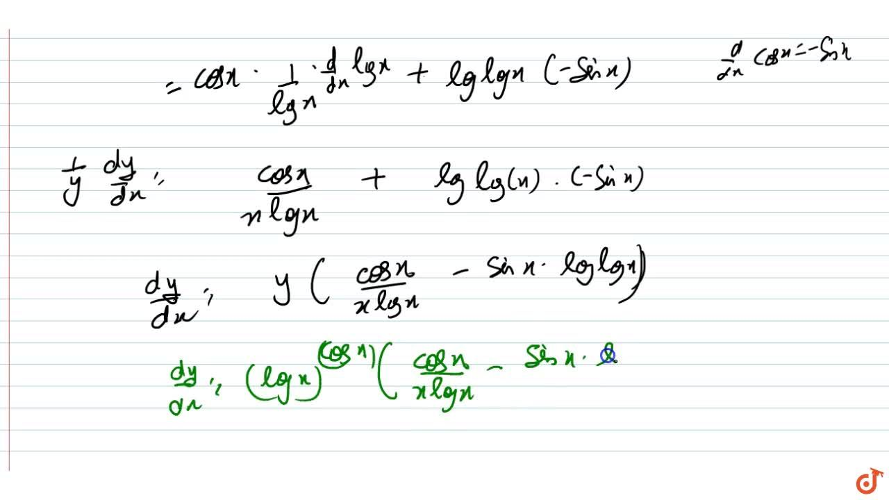 Solution for Differentiate the functions given w.r.t. x:<br>(l