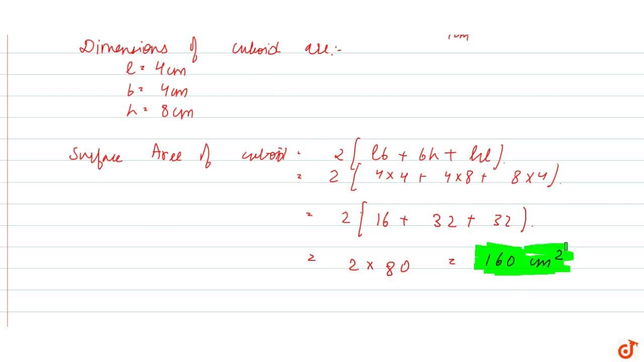 2 cubes each of volume 64 c m^3are joined  end to end. Find the surface area of the resulting cuboid.