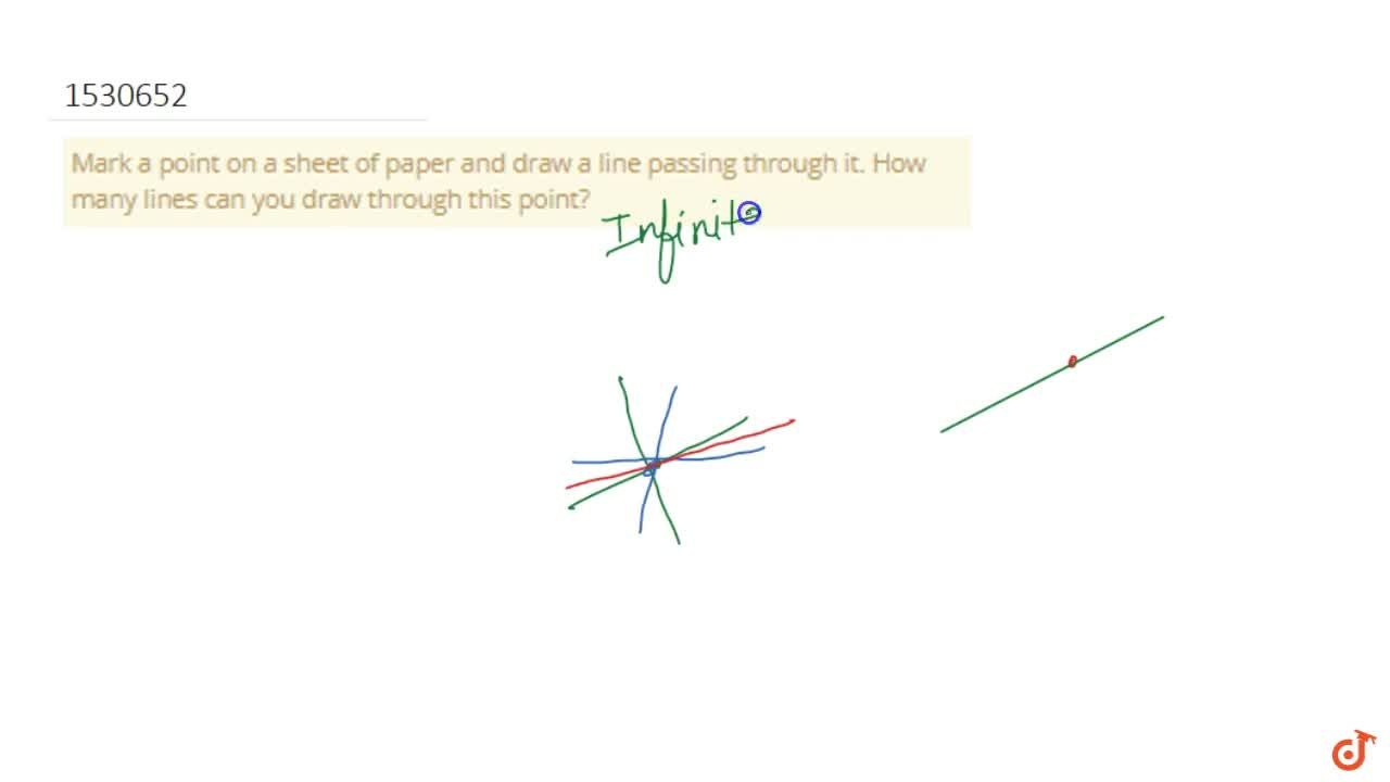 Solution for Mark a point on a sheet of paper and draw a line p