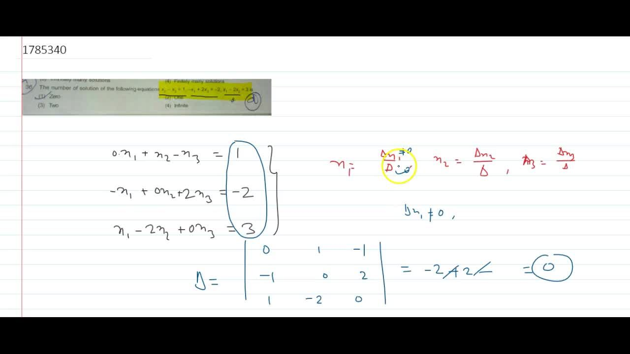 Solution for The number of solution of the following equations