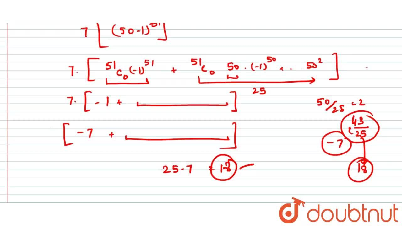 Solution for 7^(103) when divided by 25 leaves the remainder
