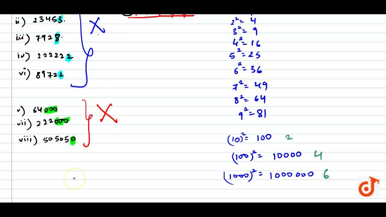 Solution for The following numbers are obviously not perfect  s