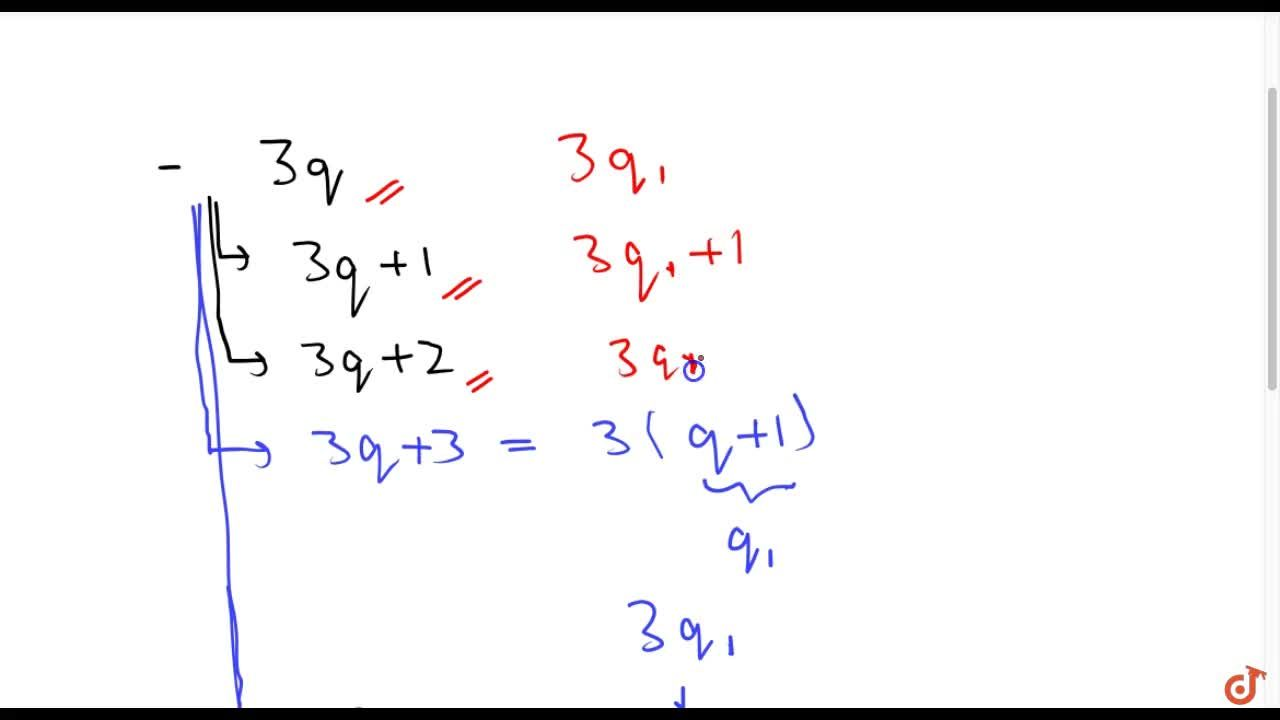 Solution for Show that any positive   integer is of the form