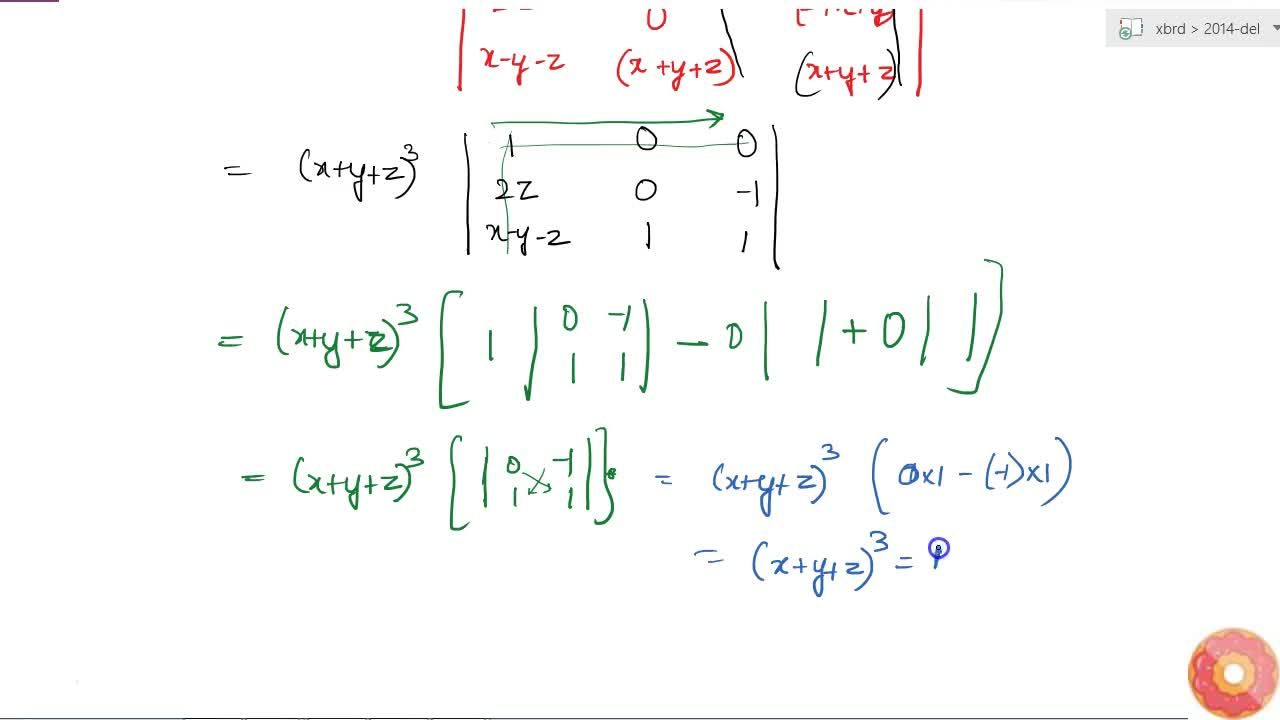 Solution for Using properties of determinants, prove that   [