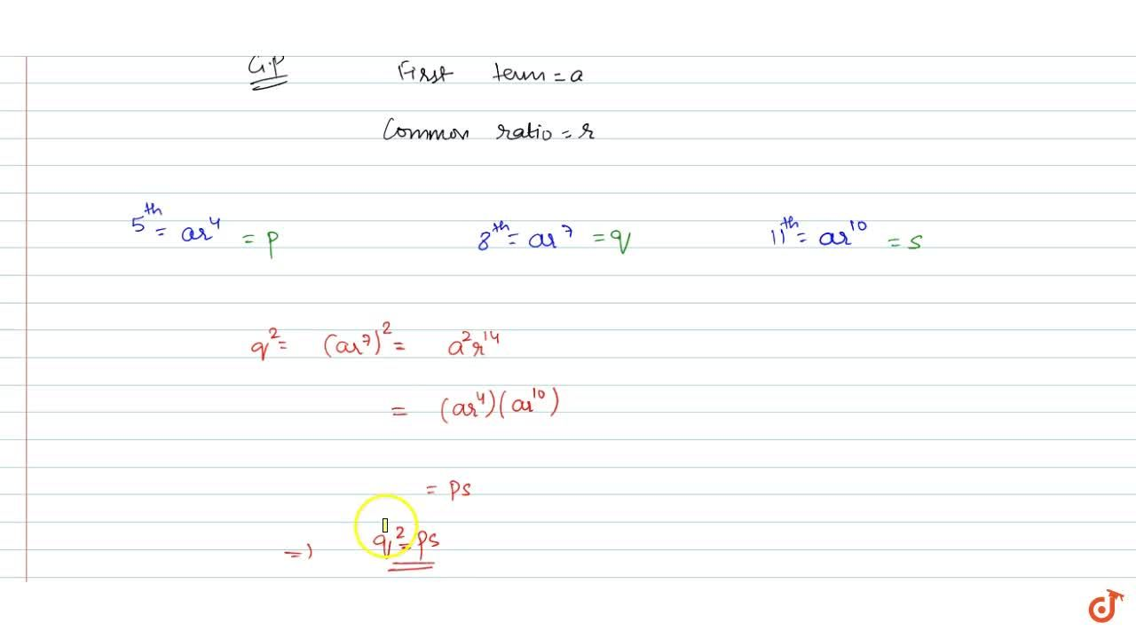 Solution for The 5^(t h), 8^(t h)and 11^(t h)terms  of a