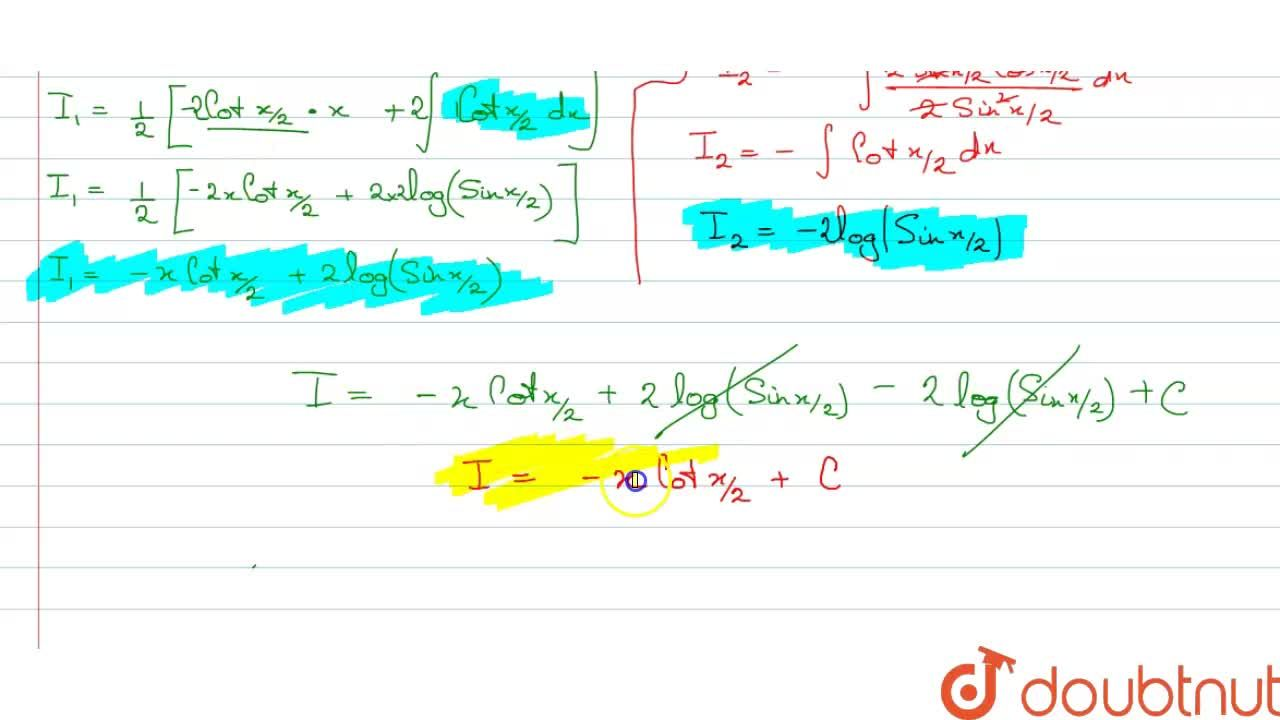 Solution for Evaluate : int((x-sinx),(1-cosx))dx.