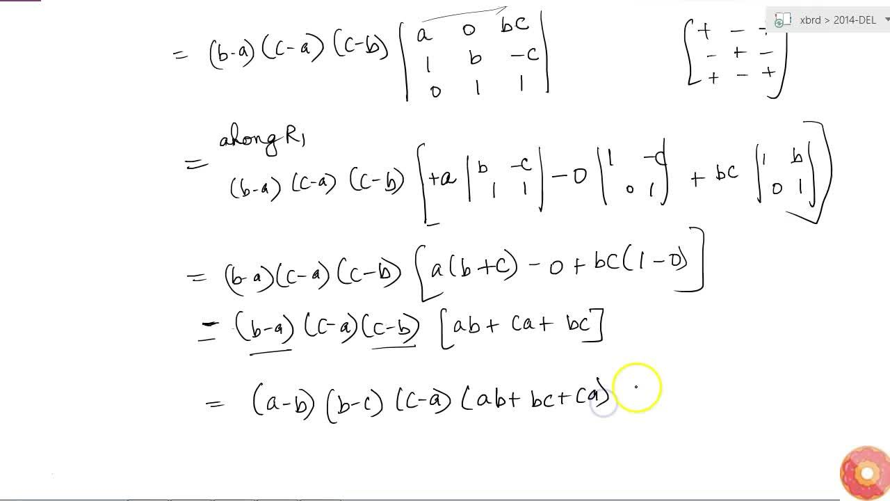 Solution for Using properties of determinants, prove the follow