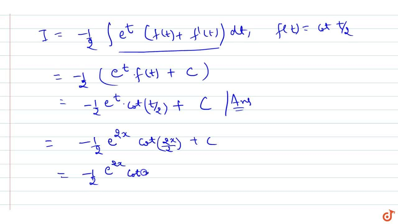 Solution for Evaluate: inte^(2x)\ ((1-sin2x),(1-cos2x))\ dx