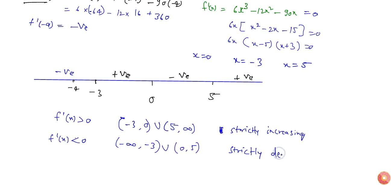 Solution for Find the intervals in which the function f(x)=3,2