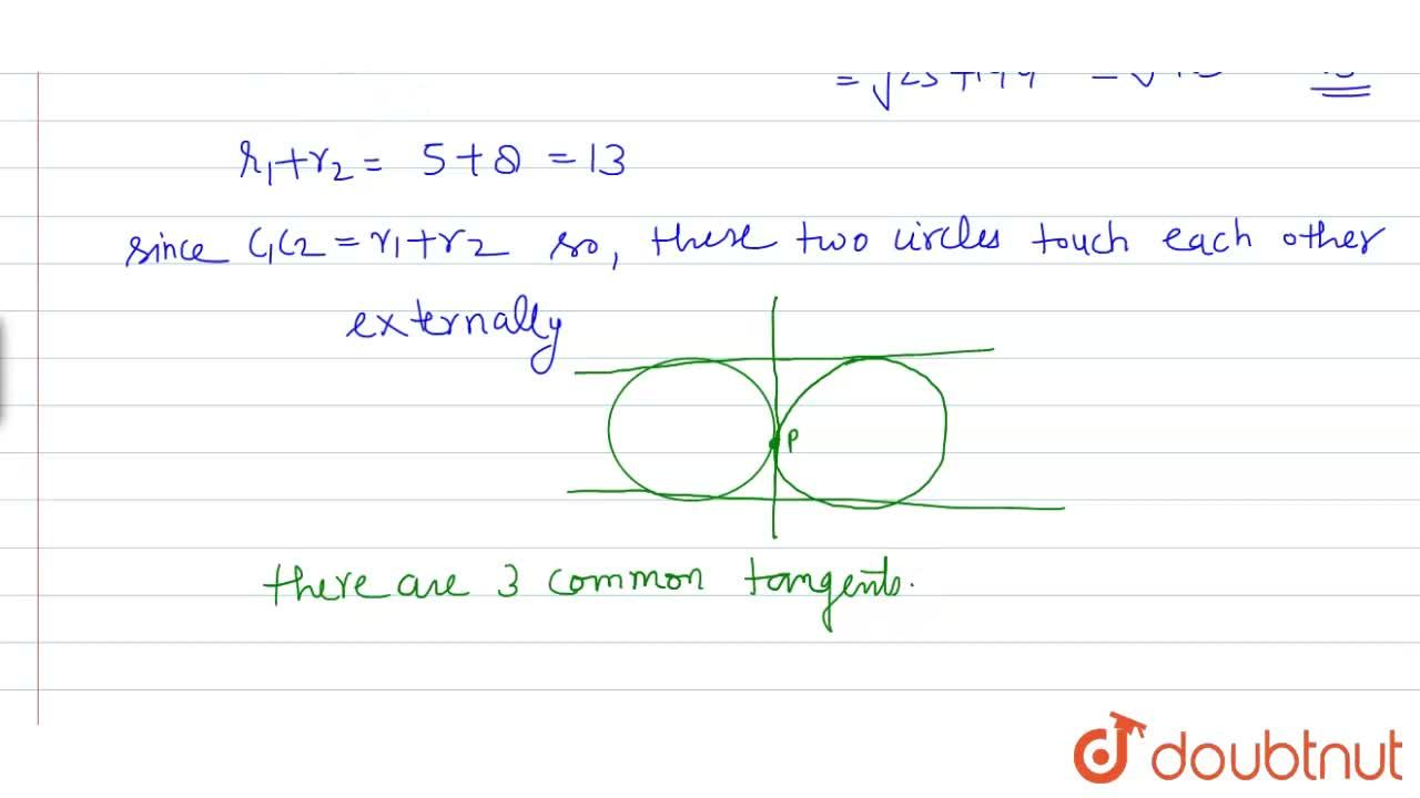 The  number of common tangents to the circles x^(2)+y^(2)-4x-6y-12=0 and x^(2)+y^(2)+6x+18y+26=0, is