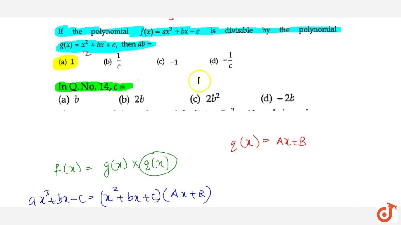 Solution for In Q. No 126, c=  (a) b  (b) 2b  (c) 2b^2