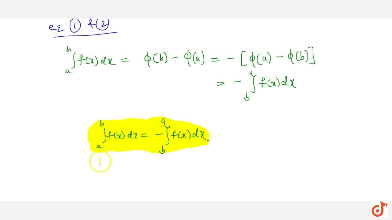 Solution for Property 2: If the limits of a definite integral a