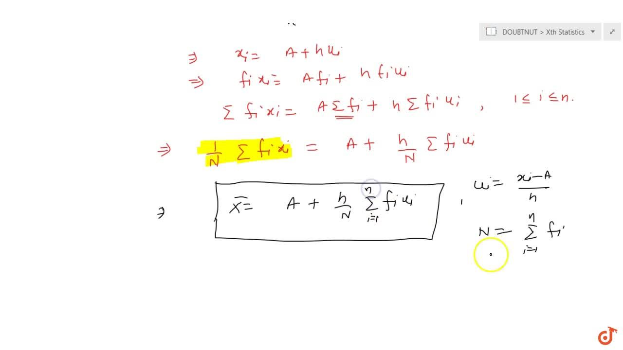 Method to calculate Mean by Step-Deviation method