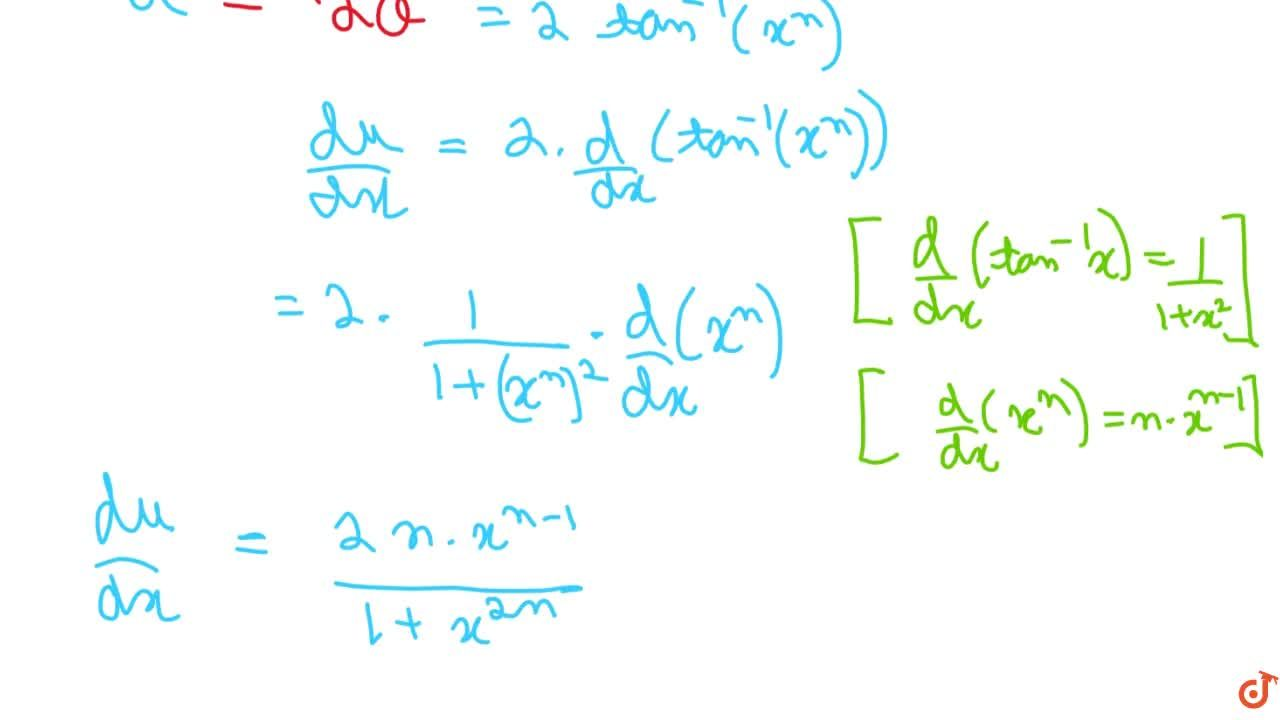 Solution for Differentiate cos^(-1)((1-x^(2n)),(1+x^(2n))),\ \