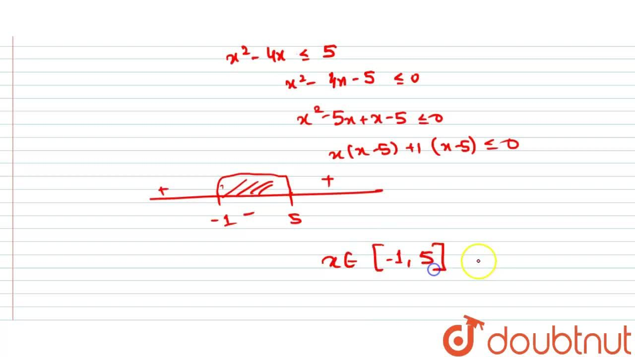 Solution for Solve : <br> (i) -2 le ||x^(2) +1| -3 | le 7 <br