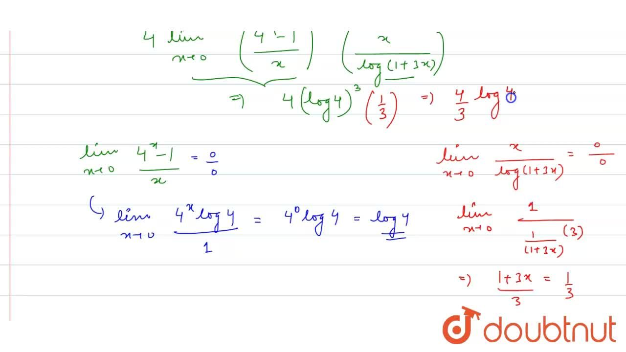 Solution for The value of lim_(xrarr0)((4^x-1)^3),(sin.(x^2),(