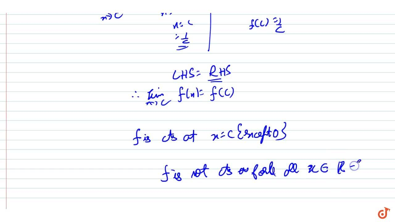 Solution for Discuss the continuity of the function f defined b
