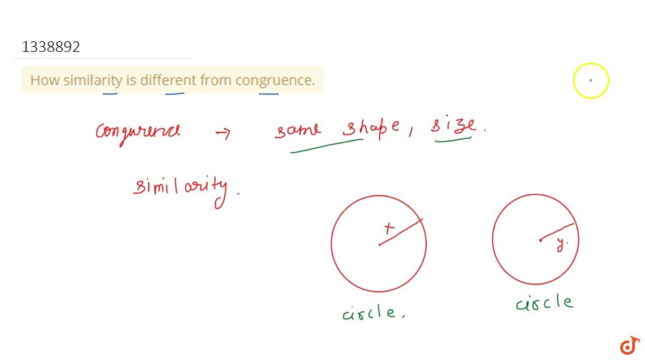 How similarity is different from congruence.