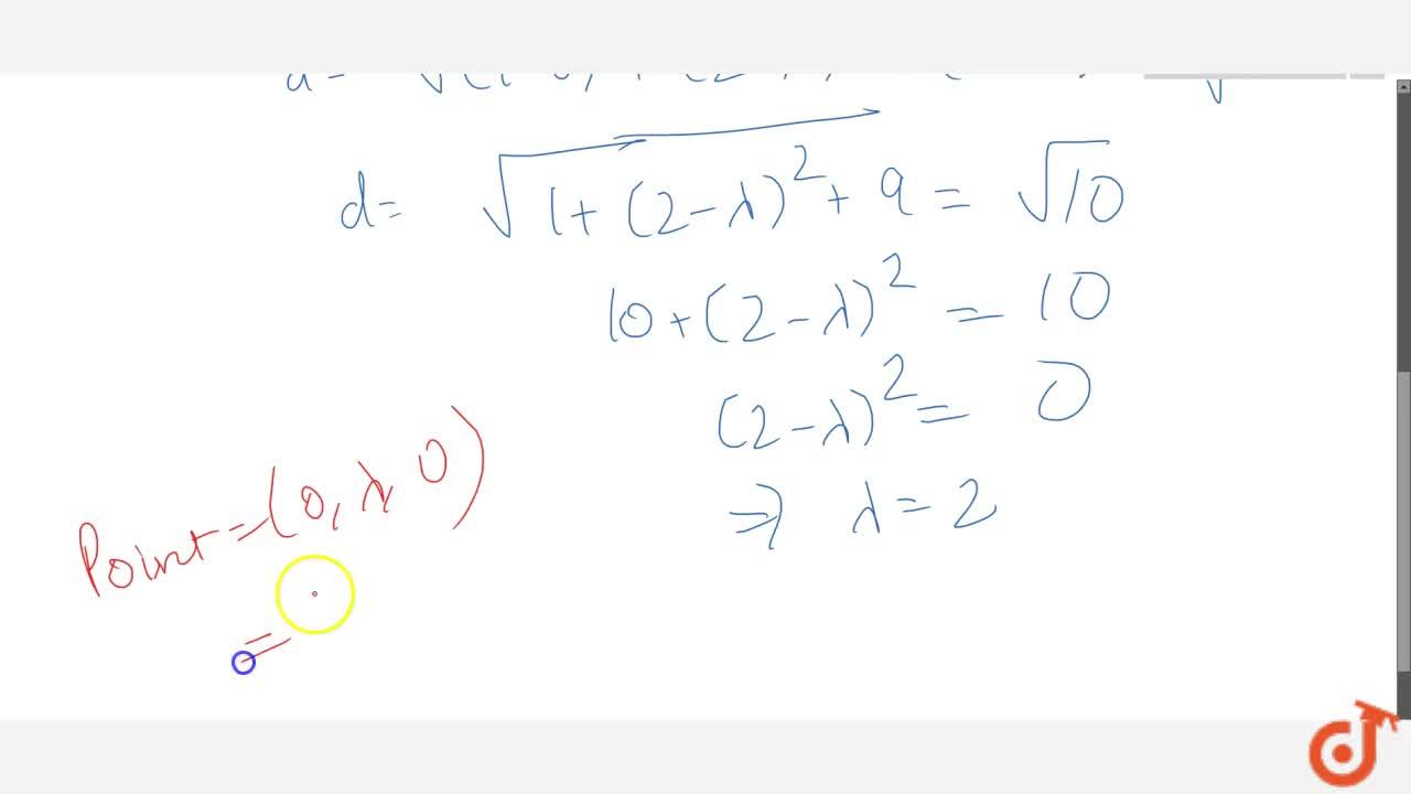 Solution for Find the point on y-axis which is at a distance of