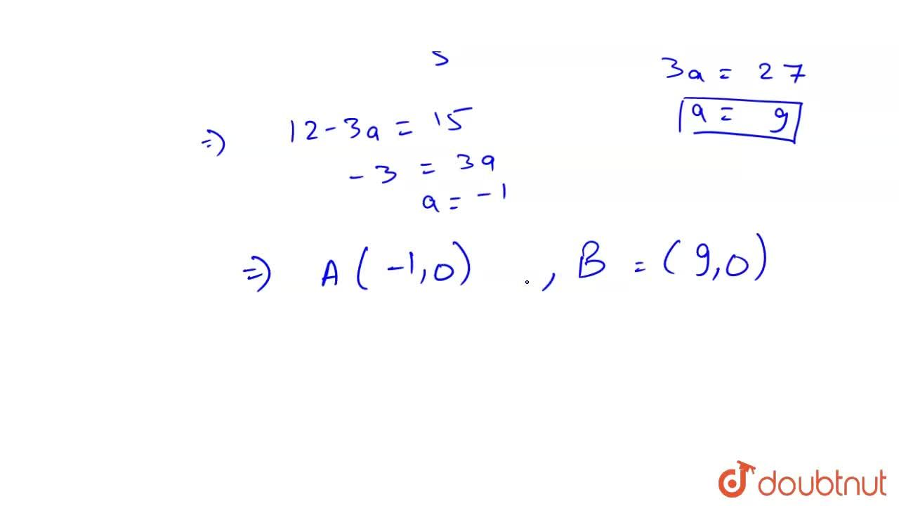 Solution for Find the points on x-axis whose perpendicular dist