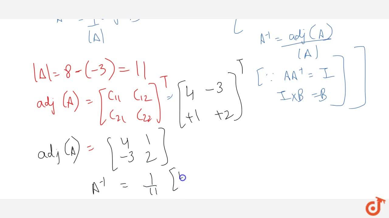 Find the inverse of the   matrix [2-1 3 4] .