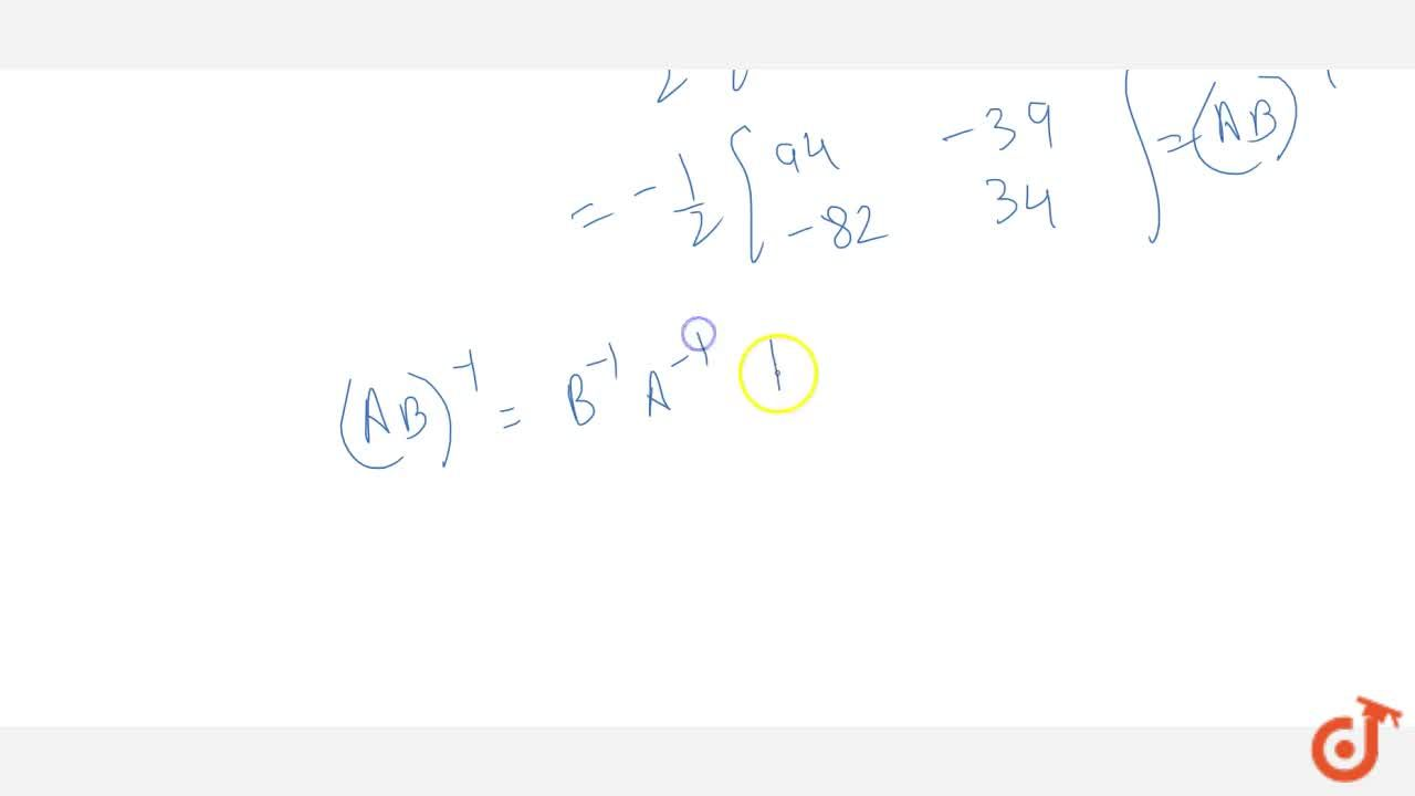 Solution for If A=[3 2 7 5] and B=[6 7 8 9] , verify that