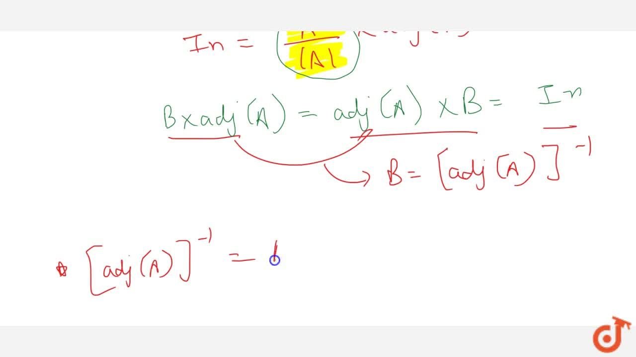 Solution for If A is a non-singular   matrix, prove that: a
