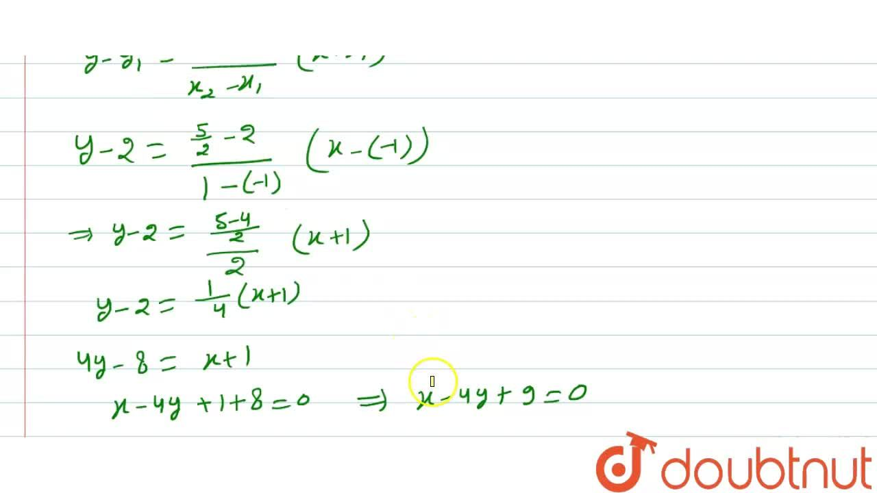 Solution for A (-1 ,2 ),B (2 ,1 ) तथा  C (0 ,4 ) त्रिभुज  A