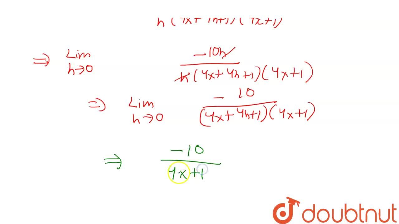 Solution for Find the derivative of (2x + 3),(4x + 1) using f