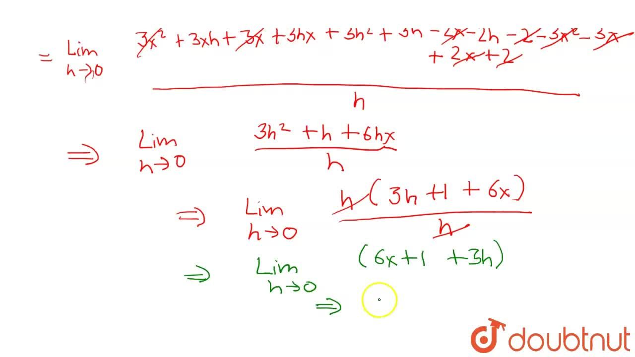 Find the derivative of (3x - 2) (x + 1) using first principle of derivative.