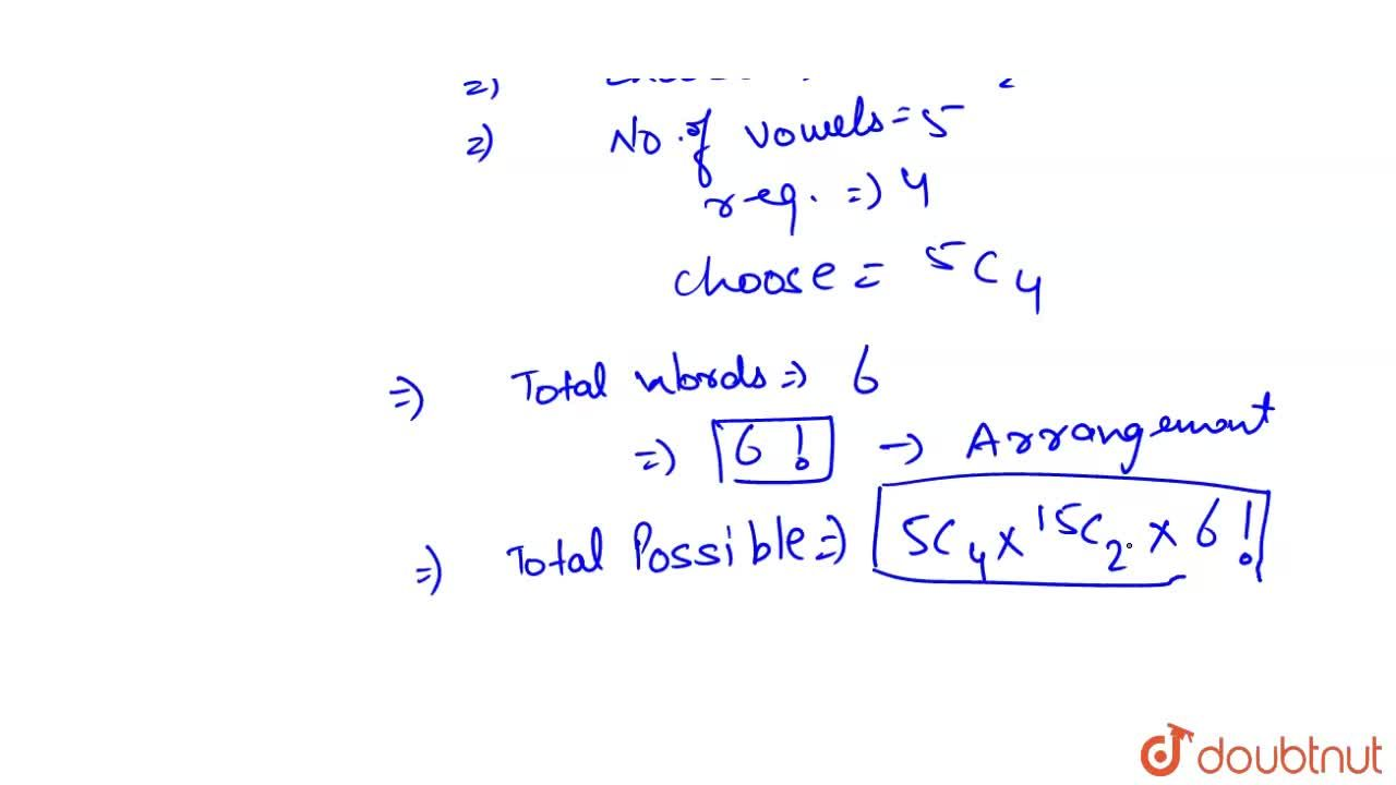 Solution for Number of different words that can be formed from