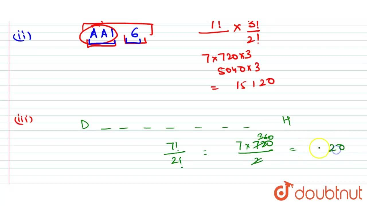 Solution for Find the number of arrangements of the letters of